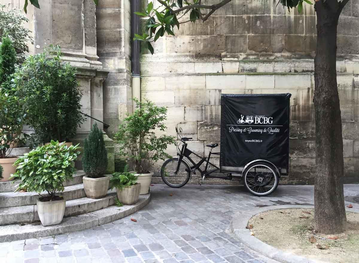 Le tricycle soyezBCBG dans le 75003